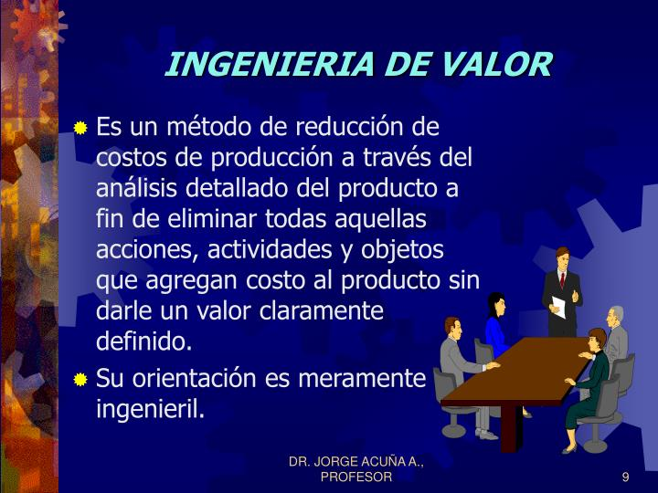 INGENIERIA DE VALOR