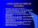 legisla o do simples nacional