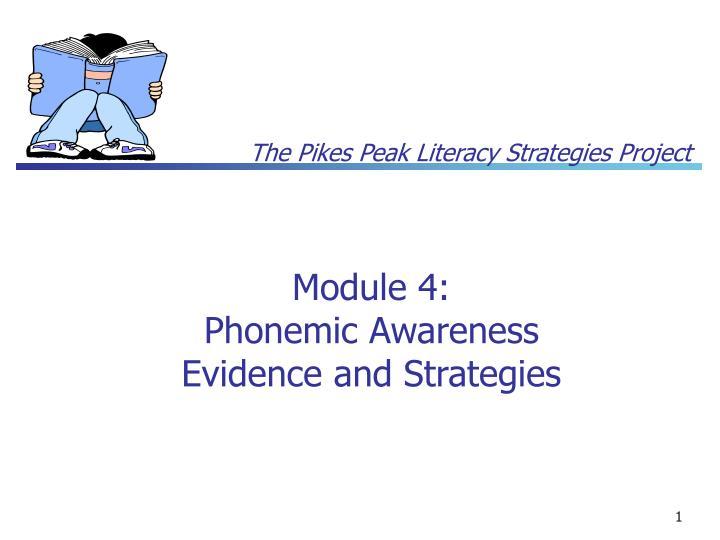 module 4 phonemic awareness evidence and strategies n.