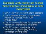 dysplazja szyjki macicy jest to etap karcynogenezy prowadz cy do raka inwazyjnego