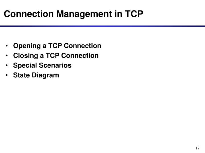 Connection Management in TCP