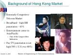 background of hong kong market