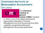chartered institute of management accountants diplomas