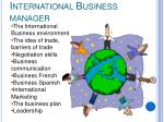international business manager