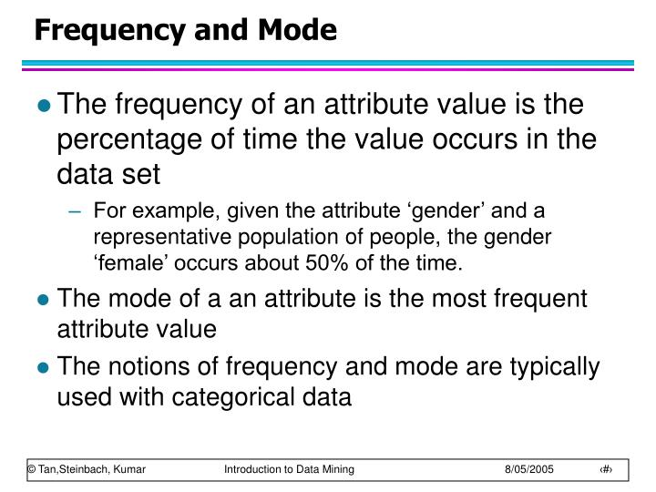 Frequency and Mode