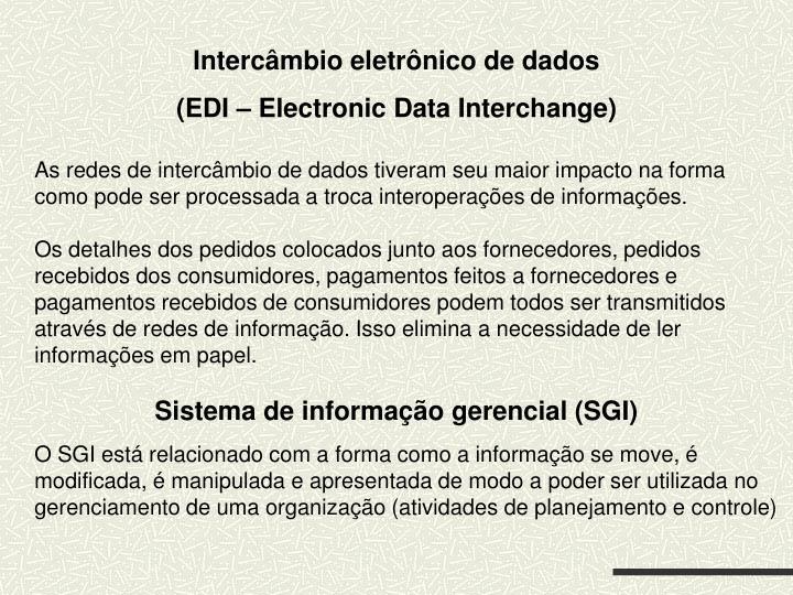 Intercâmbio eletrônico de dados