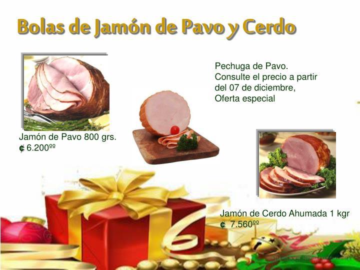 Bolas de Jamón de Pavo y Cerdo