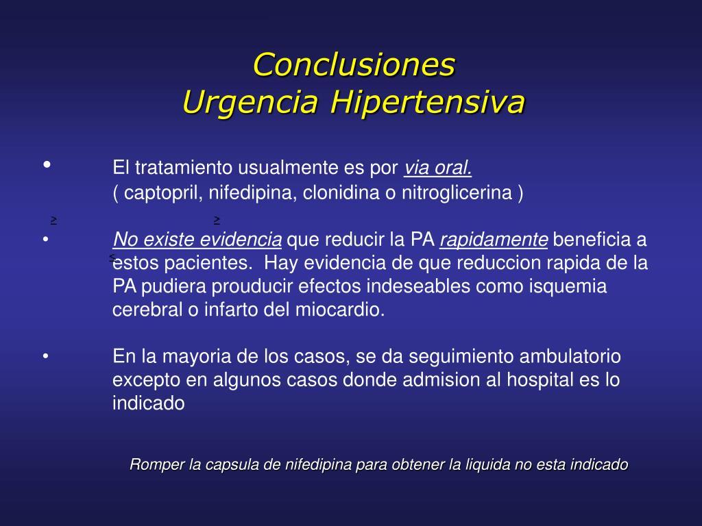 Clonidina y crisis hipertensiva