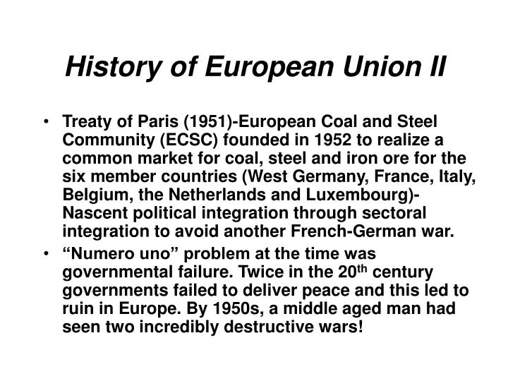 History of European Union II