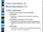 crise convulsive et benzodiaz pines 2