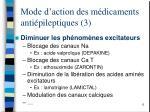 mode d action des m dicaments anti pileptiques 3