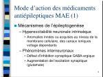 mode d action des m dicaments anti pileptiques mae 1