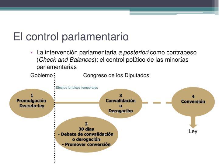 El control parlamentario
