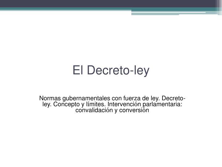 El decreto ley
