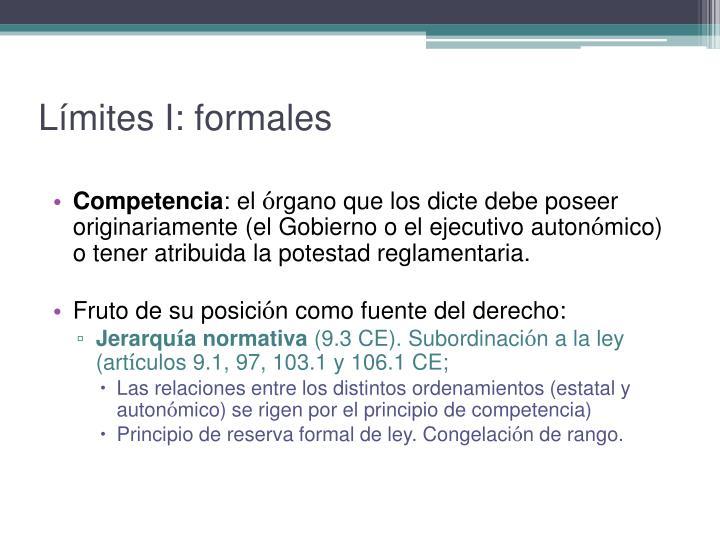 Límites I: formales