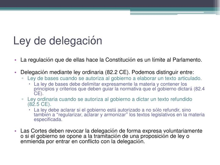 Ley de delegaci