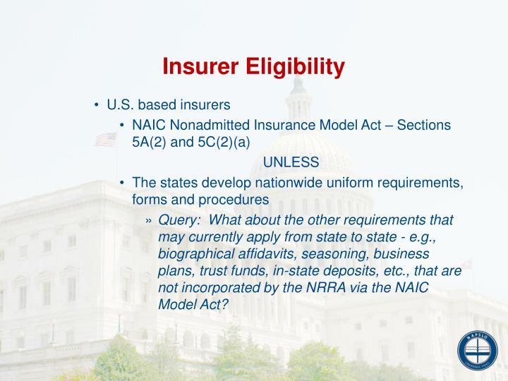 Insurer Eligibility