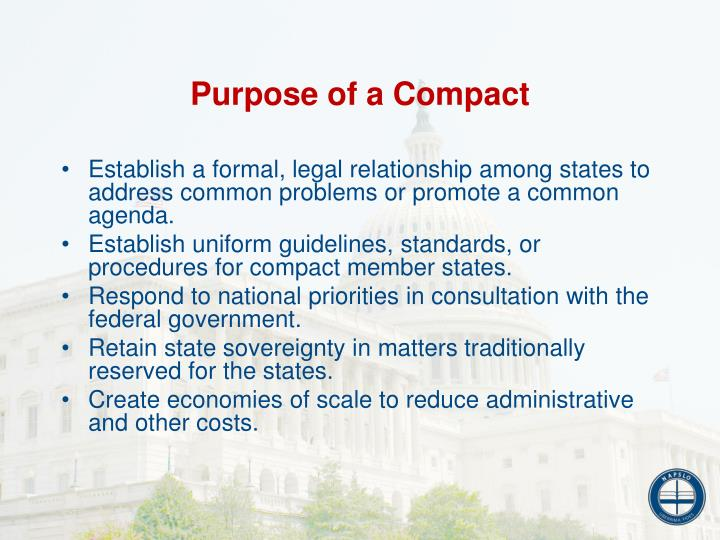 Purpose of a Compact