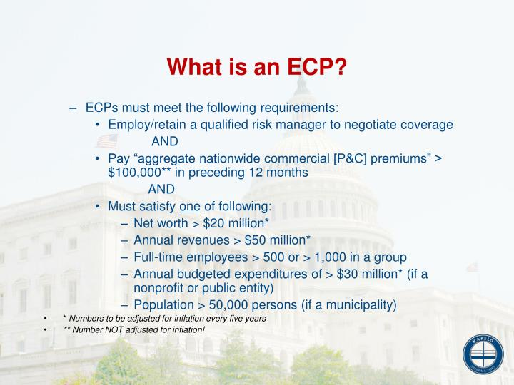 What is an ECP?