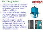 anti dusting system