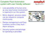 complete plant automation system with user friendly software