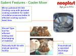 salient features cooler mixer