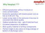 why neoplast