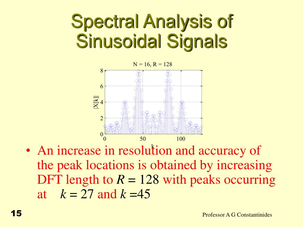 PPT - Spectral Analysis PowerPoint Presentation - ID:1273525