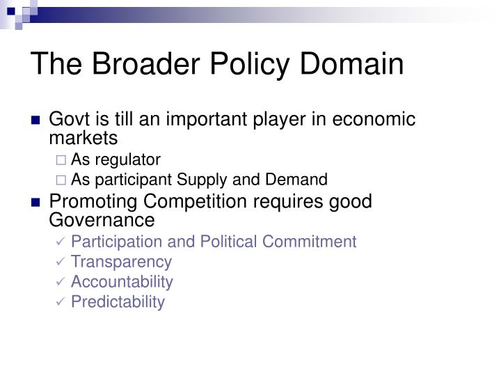 The Broader Policy Domain