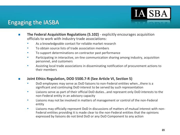 Engaging the IASBA