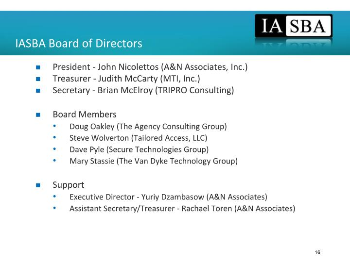 IASBA Board of Directors