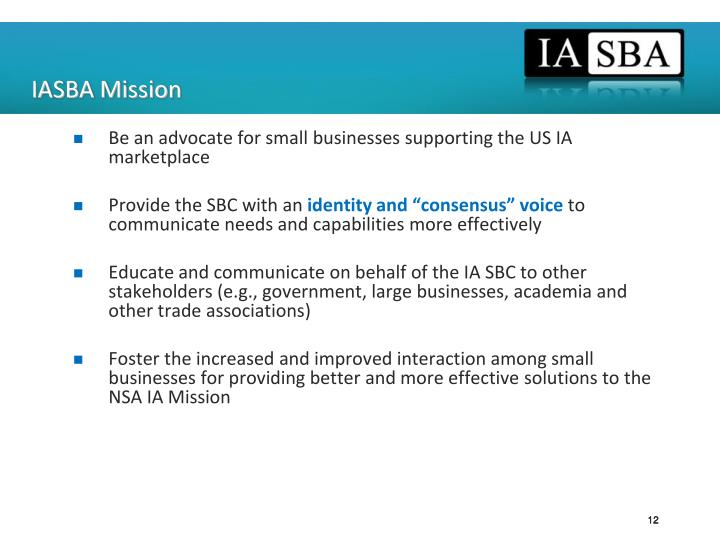 IASBA Mission