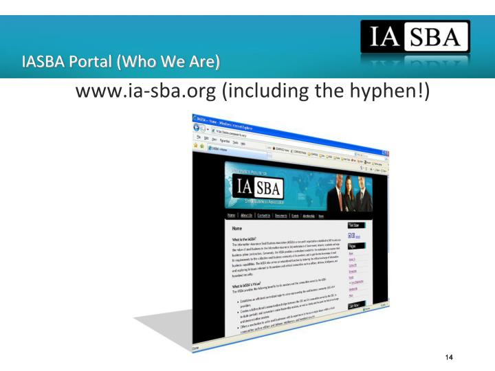 IASBA Portal (Who We Are)