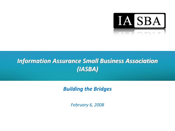 Information assurance small business association iasba