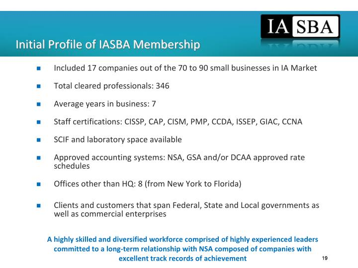 Initial Profile of IASBA Membership