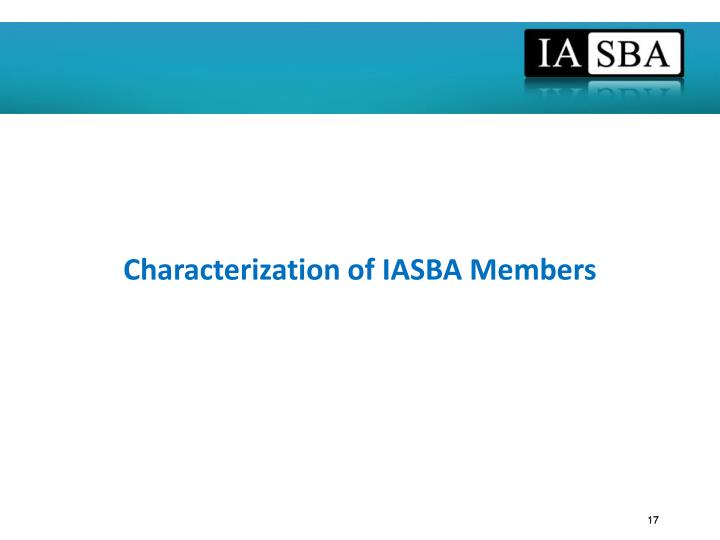 Characterization of IASBA Members