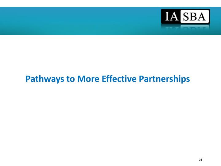Pathways to More Effective Partnerships