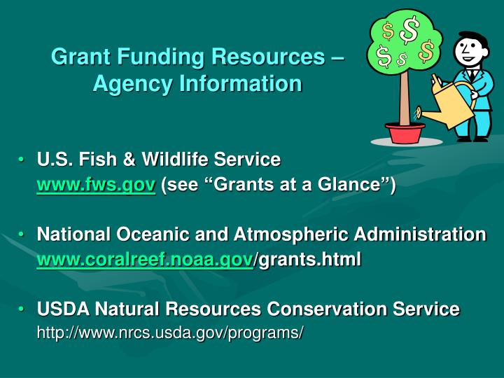 Grant Funding Resources – Agency Information