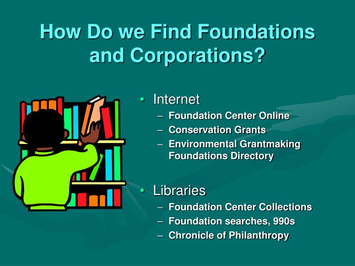 How Do we Find Foundations and Corporations?