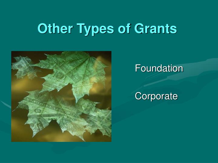 Other Types of Grants