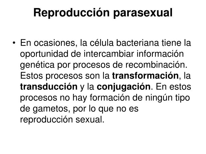 Reproduccion parasexual transduccion