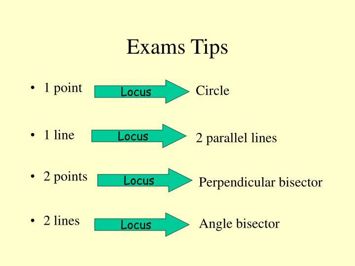 Exams Tips