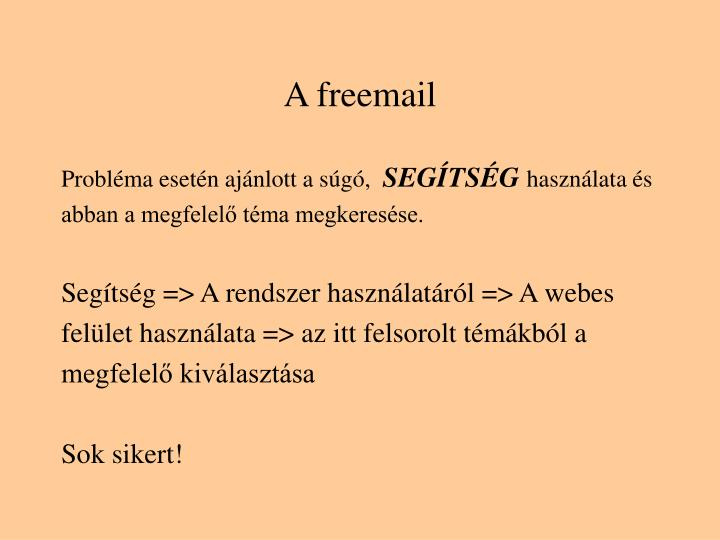 A freemail
