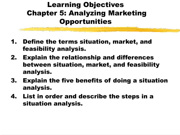 learning objectives chapter 5 analyzing marketing opportunities n.