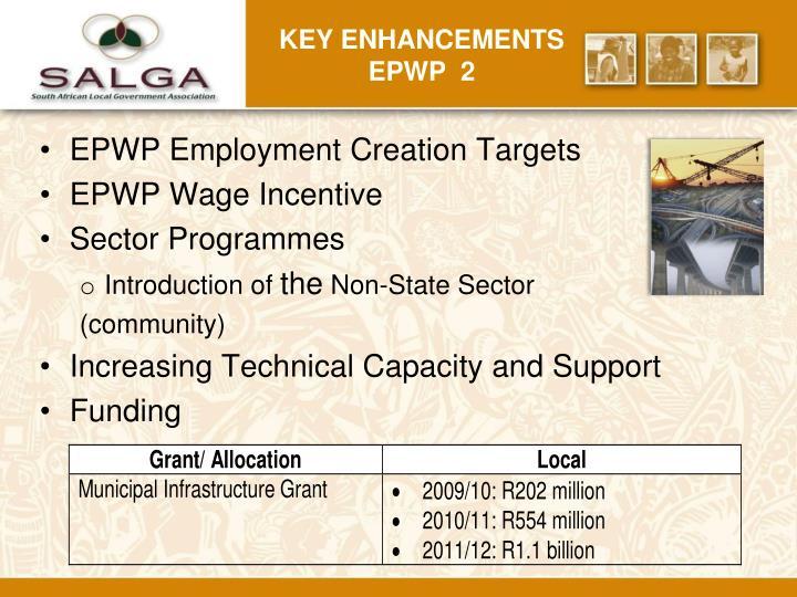 Key Enhancements EPWP  2