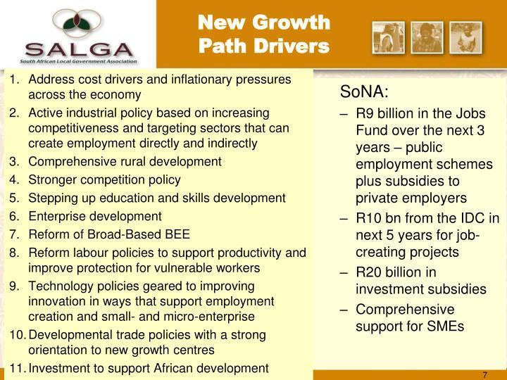 New Growth Path Drivers