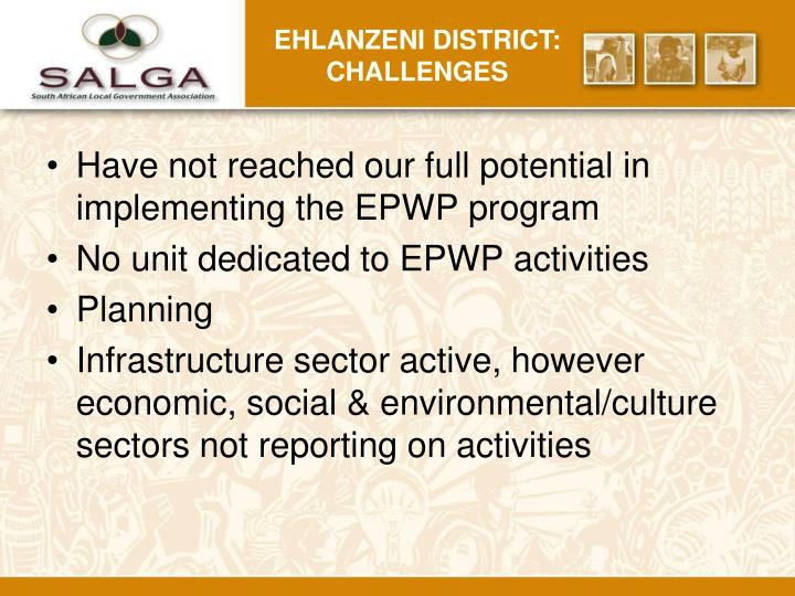 Ehlanzeni district: challenges
