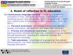 3 model of reflection in fl education