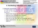 4 facilitating reflection in fl class