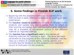 5 some findings in finnish elp work1